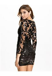Brocade Sequin Bodycon Kjole