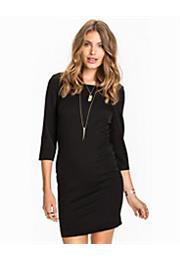 kort sort kjole med ærmer
