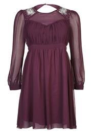 Little Mistress Curvy Festkjole Dark Bordeaux
