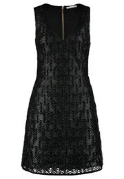 Supertrash Daired Festkjole Black