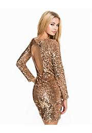 Velvet Sequin Open Back