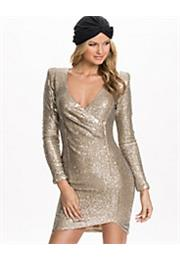 Wrap Sequin Power Kjole